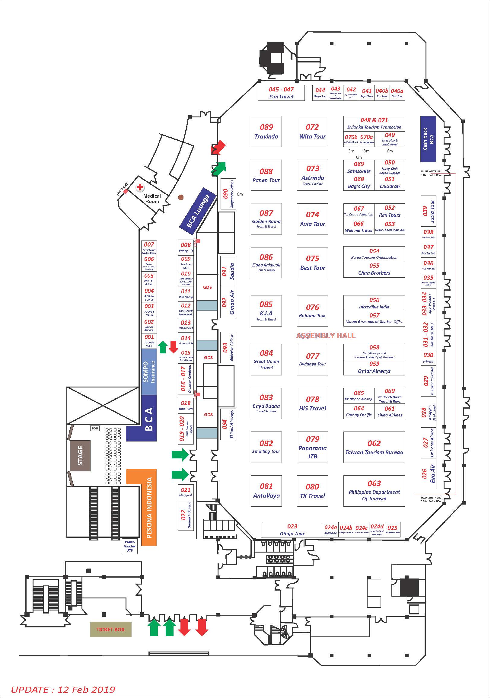 Floorplan Astindo Fair 2019